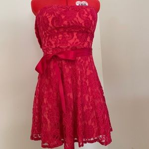 Red lace dress (homecoming, dances, prom)